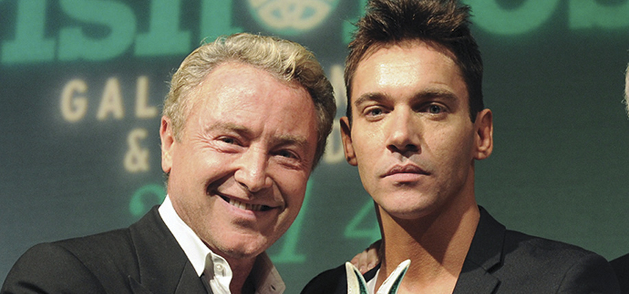 Rhys  Meyers with Michael  Flatley at The Irish Post Awards 2014 and Business Gala Dinner