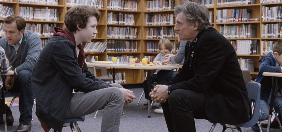 Devin  Druid with Gabriel Byrne in Louder than Bombs.