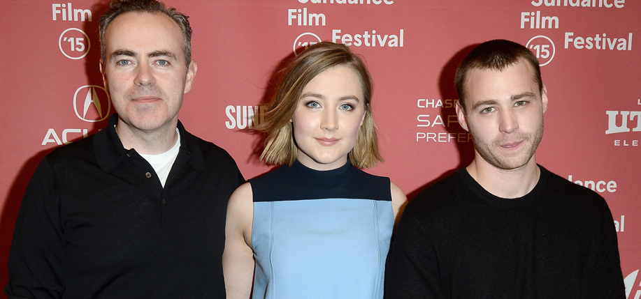 John Crowley (left), Saoirse Ronan and Emory Cohen attend the Brooklyn premiere during the 2015 Sundance Film Festival (Photo: Getty Images)