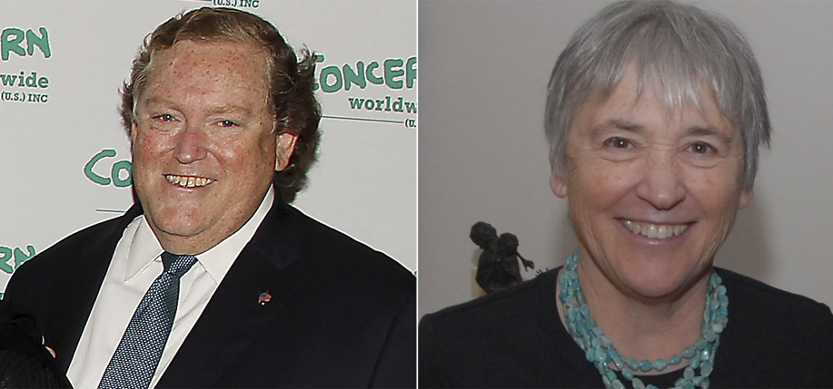 Tom Moran and Maureen Murphy receive Irish Presidential Awards in 2015.