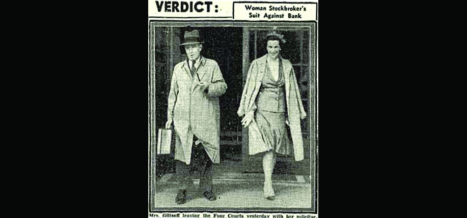Oonagh Keogh leaving the Dublin Four Courts with her solicitor.