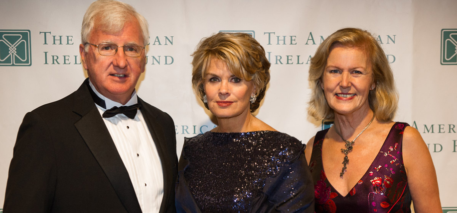 Steve Greeley, Vice President of Major Gifts and New England Director of The American Ireland Fund;  Anne Finucane, Dinner Honoree and Vice Chair of Bank of America; and Anne Anderson, Irish Ambassador to the U.S.