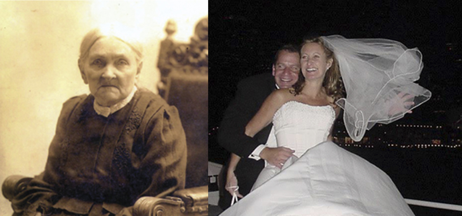 Left: Ellen Nelligan, the author's great-great grandmother, who was born in Co. Kerry. Right: Just-wed Mike and Eileen Fontana. (All photos courtesy of the author)