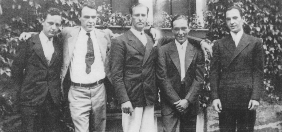 From left: Robert, Peter, William, Francis, and Paul Kirwin. (Photo courtesy of the author)