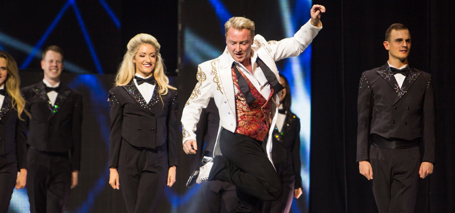 Michael Flatley performing on Broadway in Lord of the Dance: Dangerous Games. (Photo: Brian Doherty)