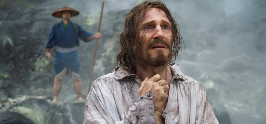 Liam Neeson in the first production still from Silence.