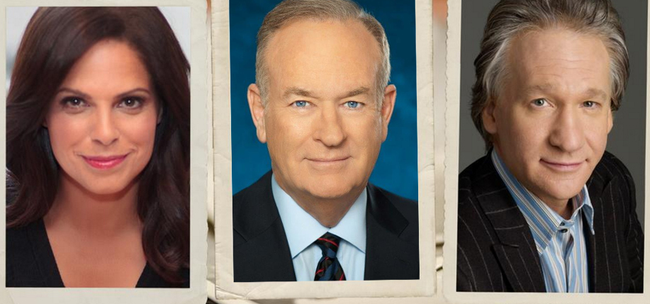 """Finding Your Roots"" airs on PBS. Above: Soledad O'Brien, Bill O'Reilly, Bill Maher."