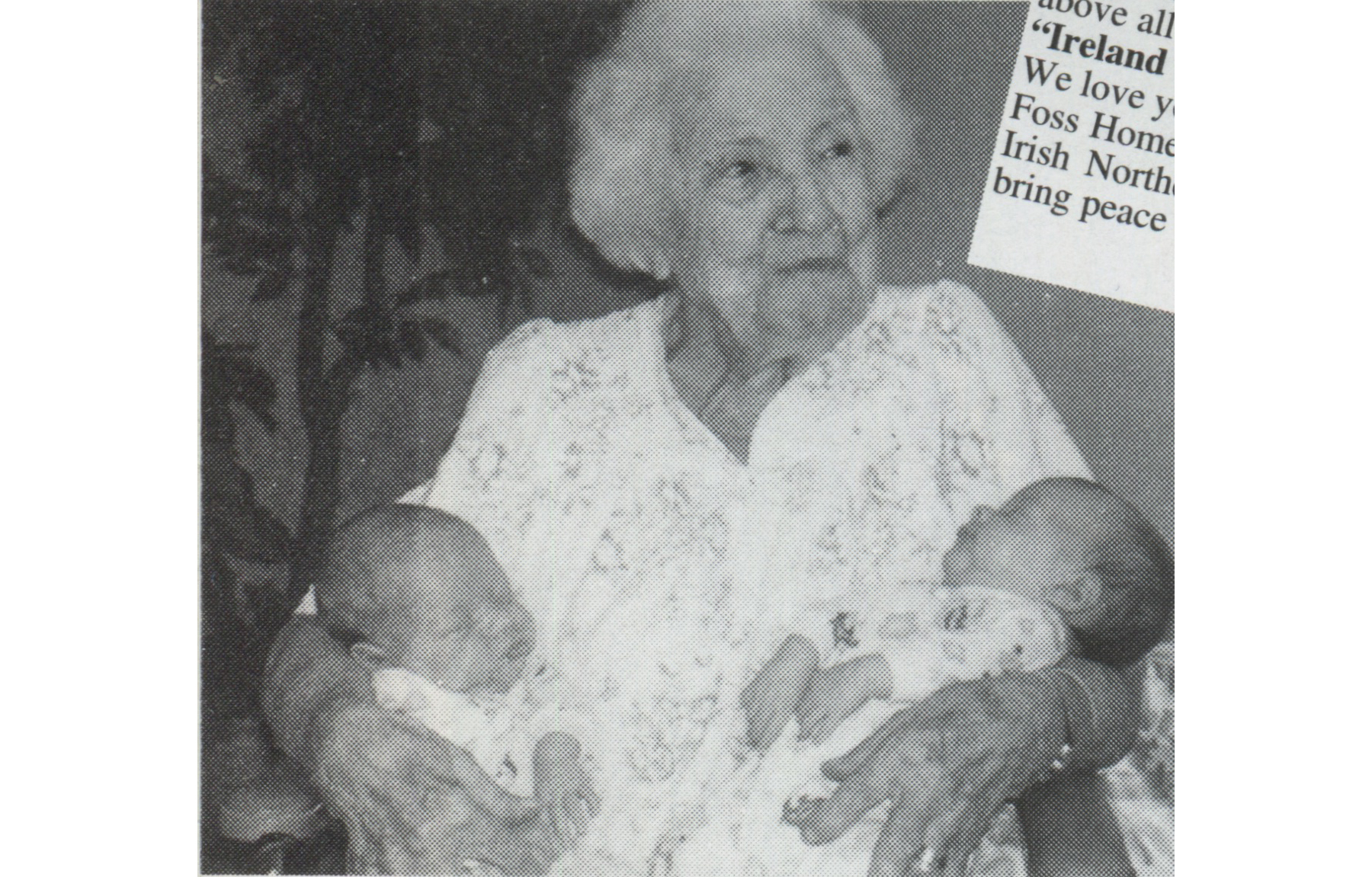 Lily McAlerney with her great grandchildren, two of 116 she had.