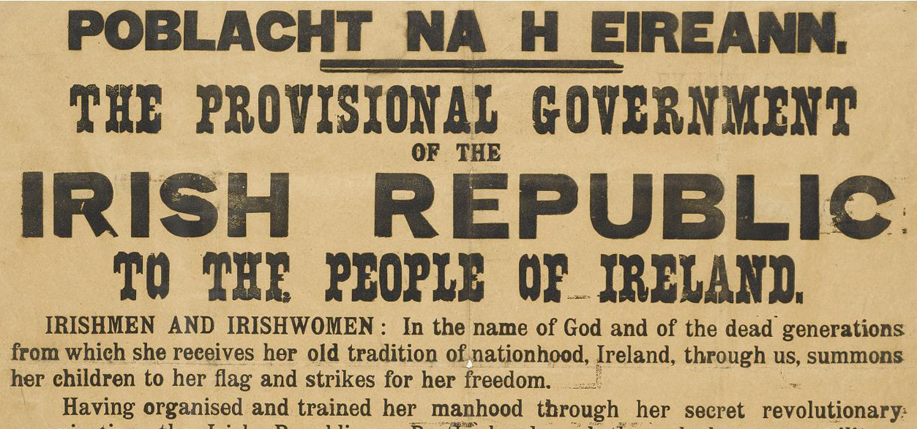 1916 Proclamation. See full-size below.