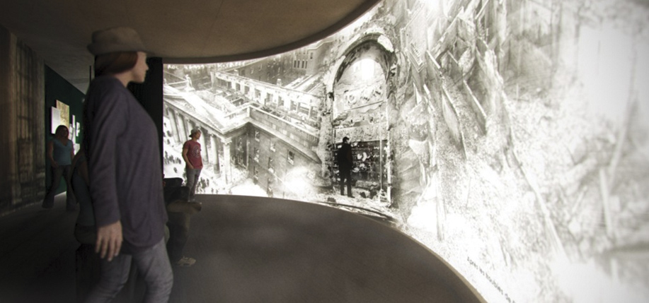 Artist's rendition of the interior of the new immersive G.P.O. exhibition space.