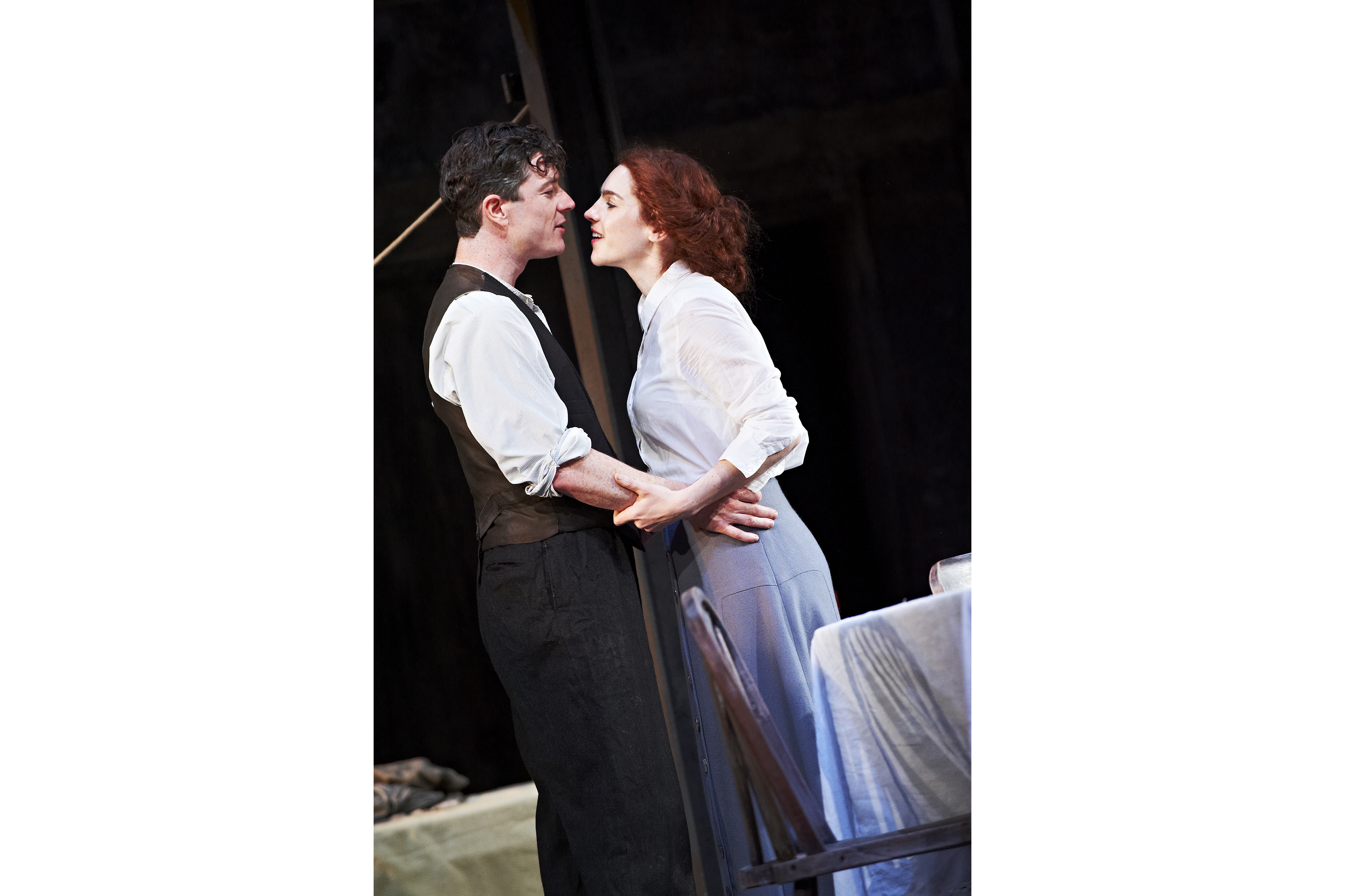 The Plough and the Stars 2012 Abbey Theatre, Barry Ward and Kelly Campbell, Photo Credit Ros Kavanagh.