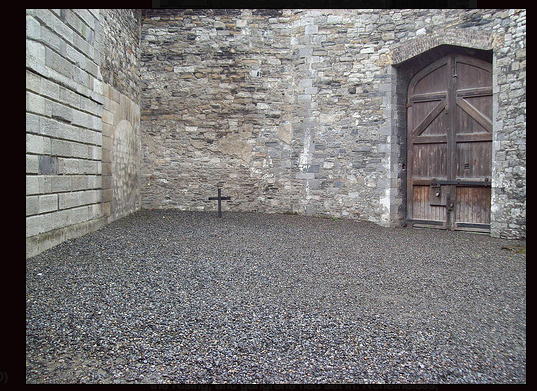 The yard where they were executed.