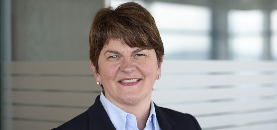 Arlene Foster, First Minister of Northern Ireland. (Photo: Michael Cooper)