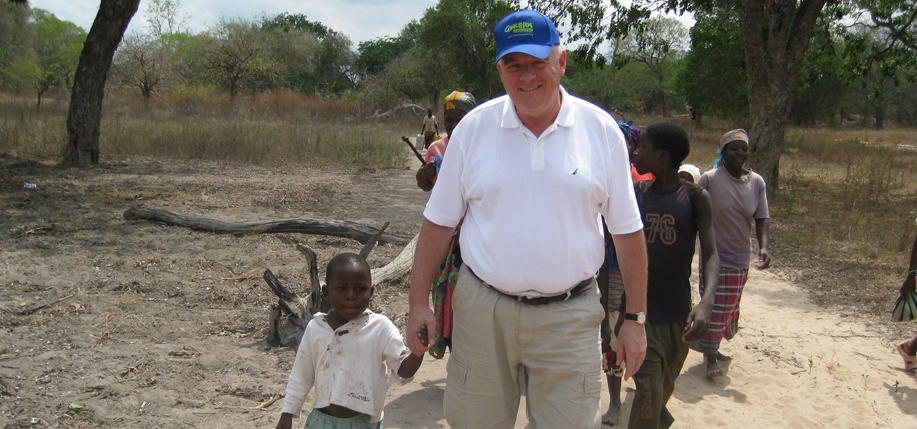 Kenney  on a field visit with  Concern Worldwide  U.S. in Chipopopo,  Mozambique.