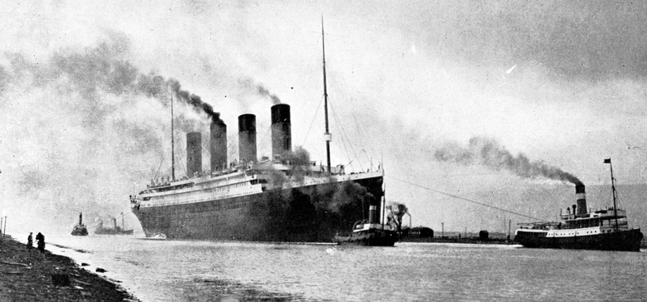 RMS Titanic sea trials on April 2, 1912. Photo: Wikimedia Commons