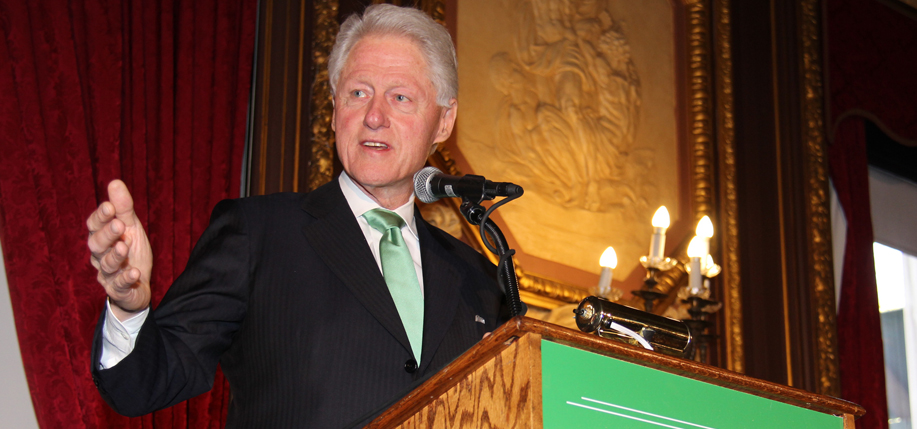 Bill Clinton speaks during the 2016 Irish America Hall of Fame. Photo: Margaret Purcell
