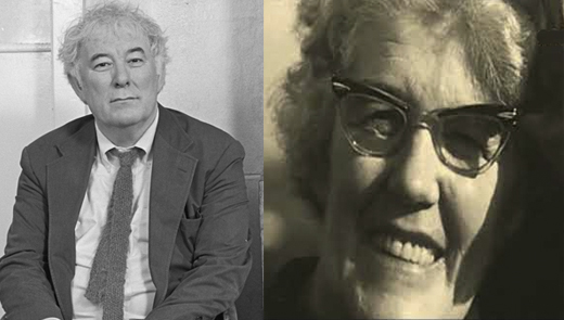 Seamus Heaney and his mother Kathleen McCann.