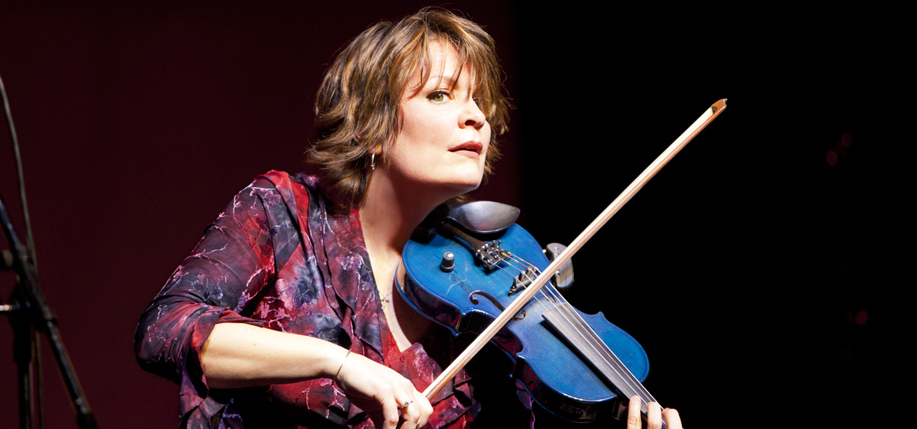 Eileen Ivers with her blue electric fiddle. (Photo: Mel DiGiacomo)