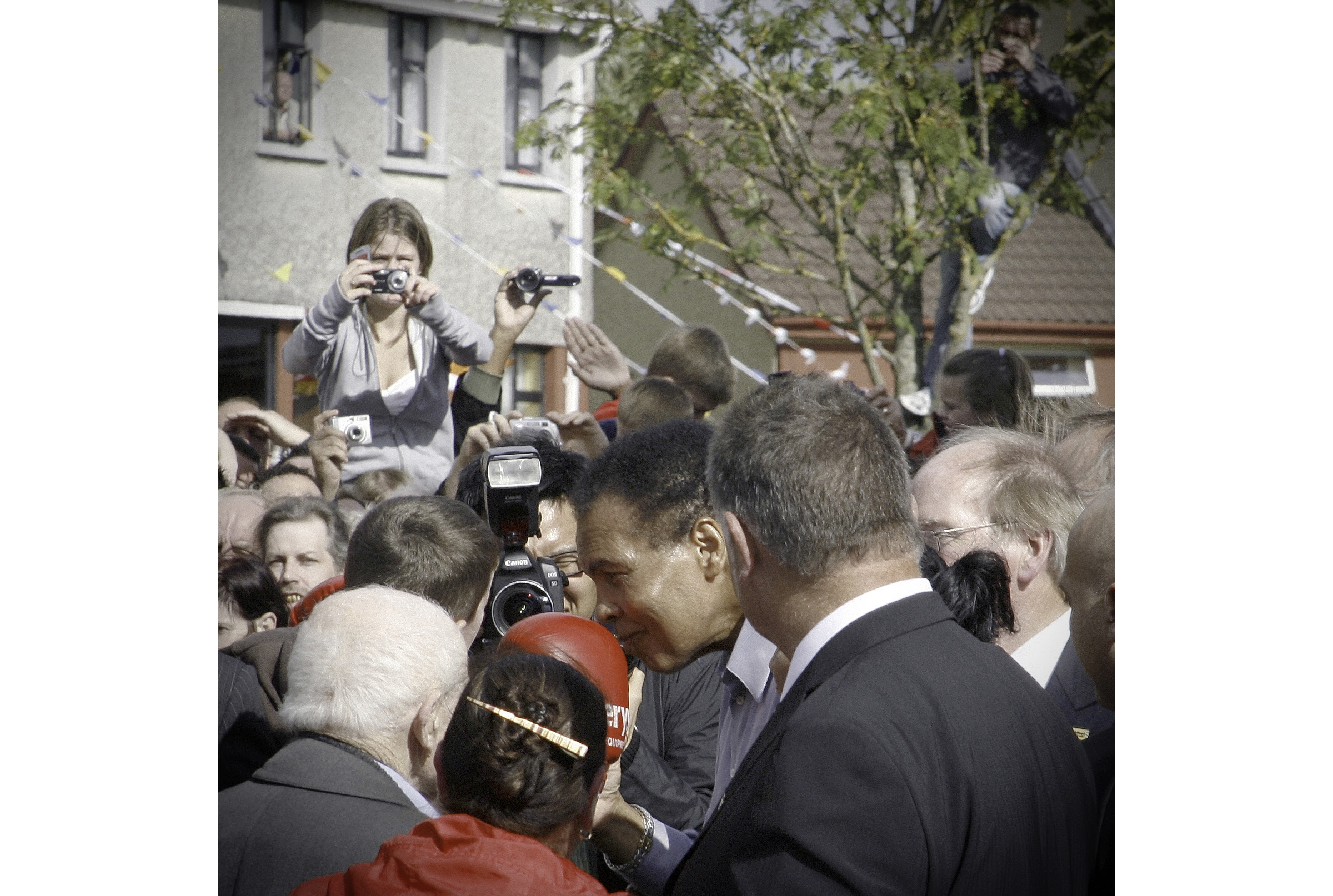 Mohammed Ali walks through the streets of Ennis. Photo courtesy of the author.