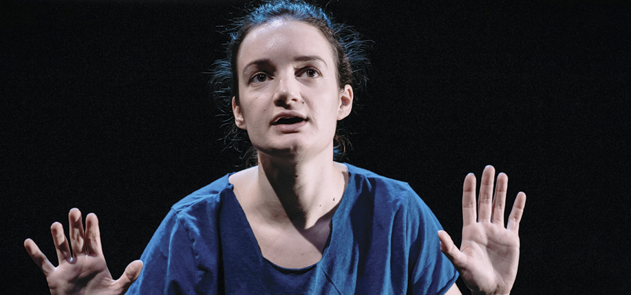 Aoife Duffin in Annie Ryan's stage adaptation of A Girl if a Half-formed Thing. (Photo: Mihaela Bodlovic)