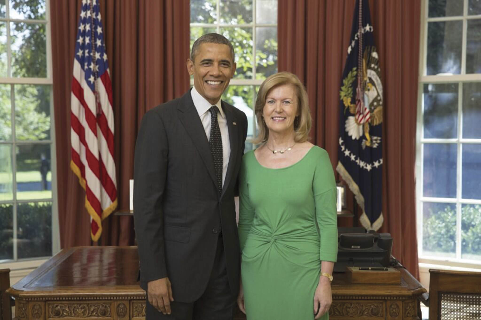 Anne Anderson presented her credentials to President Barack Obama on assuming the position of Ireland's  Ambassador to the U.S. (Photo: White House / Lawrence Jackson)