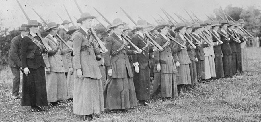 Cumman na mBan, at Brookfield, near Omagh, in Tyrone. An Irish  republican women's  organization formed in Dublin on April 2, 1914 as an auxiliary of the Irish Volunteers. (Photo: James Langston)