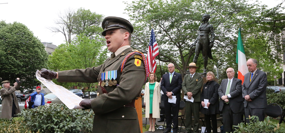 The Smithsonian and Irish Embassy rededicated the statue of Robert Emmet in Washington D.C. in April.