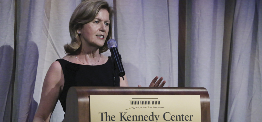 Ambassador Anderson speaking at the Kennedy Center's Ireland 100 program. (Photo: Marty Katz)
