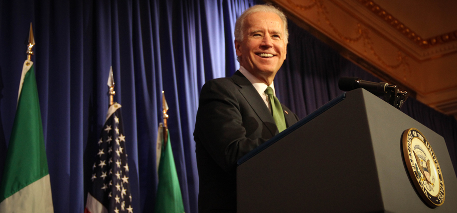 Vice President Joe Biden delivers acceptance remarks. Photo by Sade Joseph.