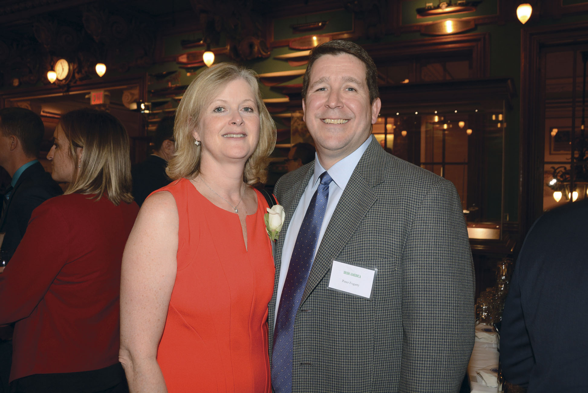 Barbara Murphy with her husband Peter  Fogarty at the 2015 Irish America Healthcare and Life Sciences 50 Awards. (Photo: Nuala Purcell)