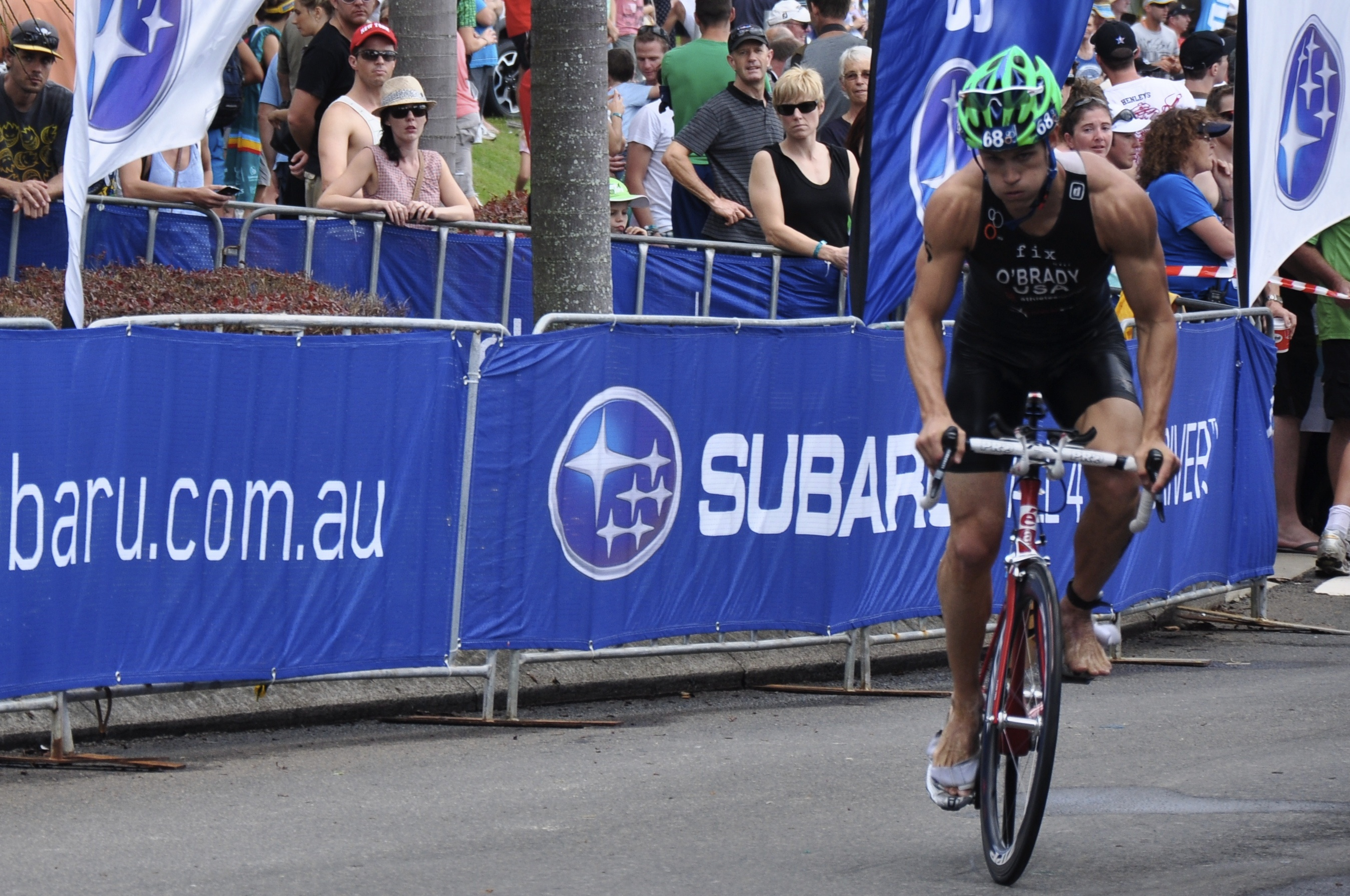 O'Brady's  professional triathlon  career provided a  great training base  for preparing for the Grand Slam.