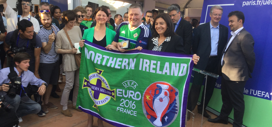 Irish and Northern Irish fans received formal recognition from the City of Paris for their demeanor during the 2016 Euro Cup.