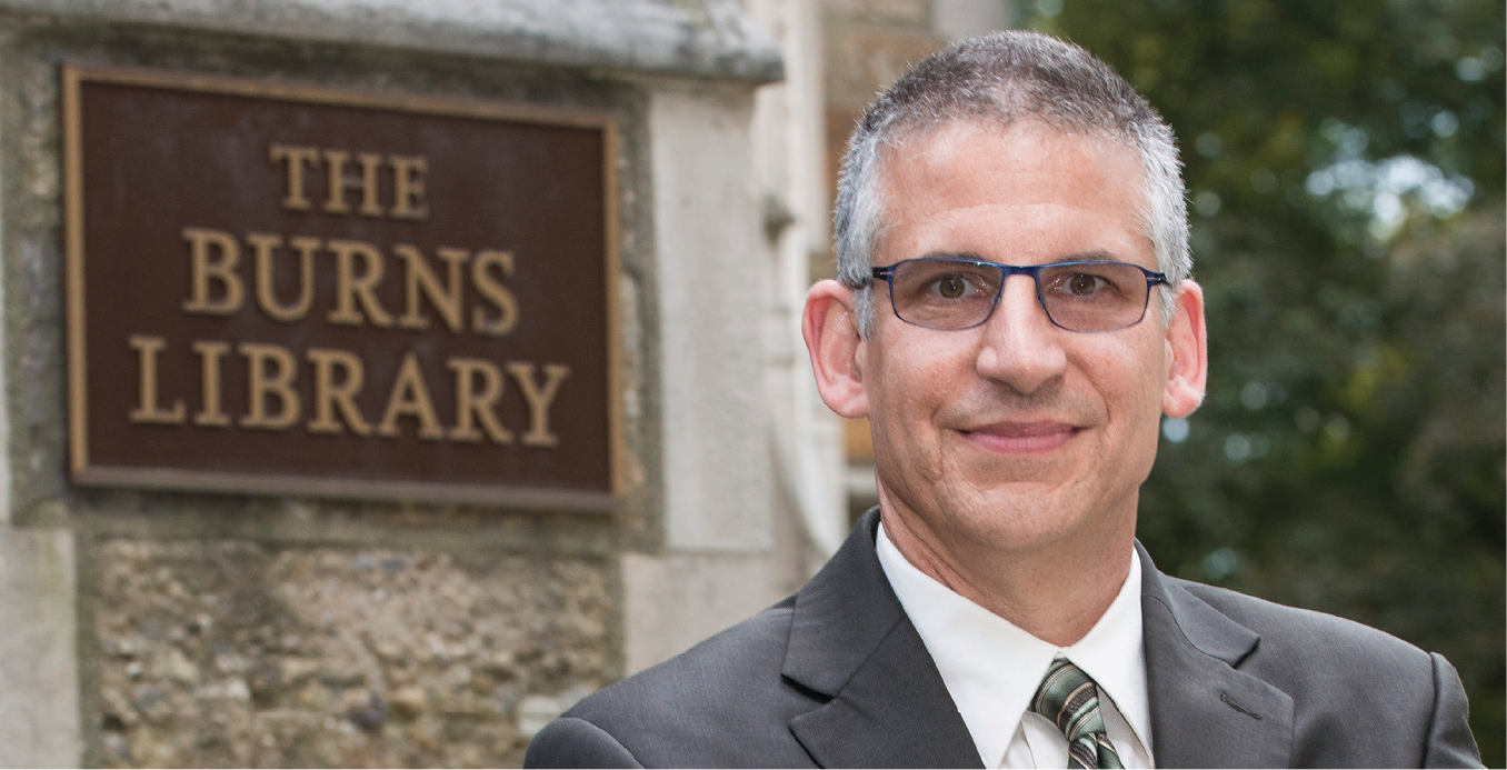 Christian Y. Dupont is Burns Librarian at the John J. Burns Library of Boston College. Photograph by Lee Pellegrin.