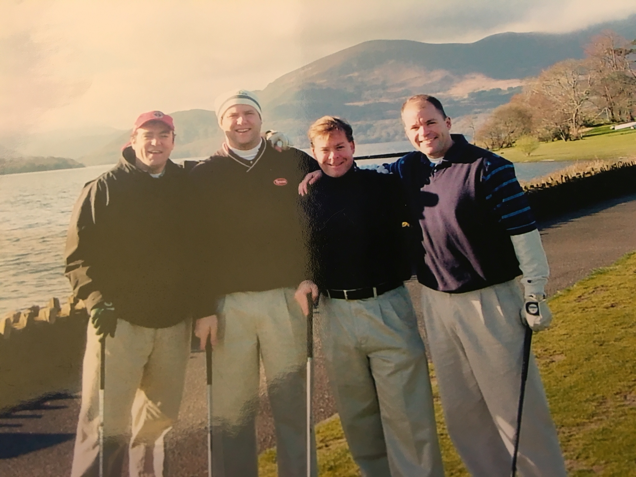 Keegan, second from right, golfing with friends in Ireland. (Courtesy Dan Keegan)