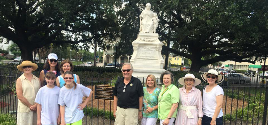 Donors and volunteers who helped fund the plaque and restoration of Margaret Place in New Orleans. (Photo: Monumental Task Committee, Inc. / Facebook)