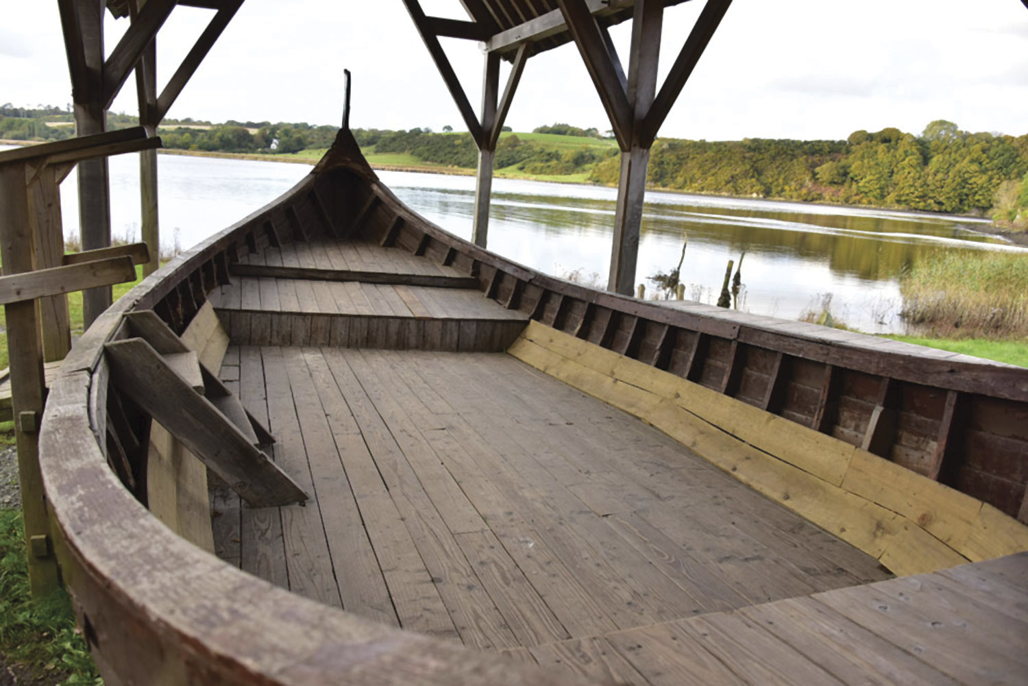 A Viking longboat in Wexford's Irish National Heritage Park.