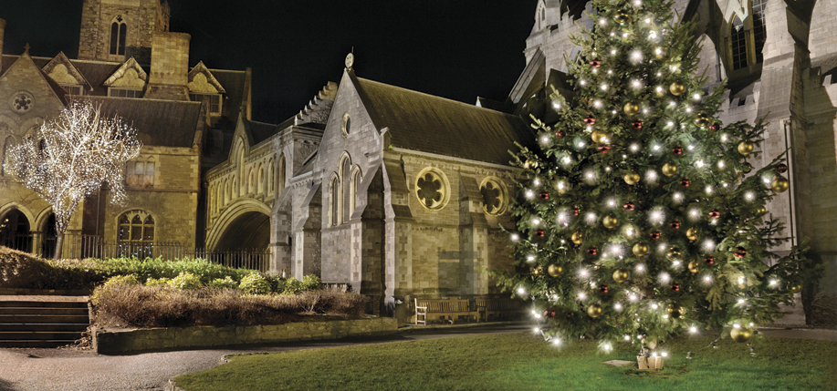 Dublin's Christchurch Cathedral at Christmas. Photo: Tourism Ireland.