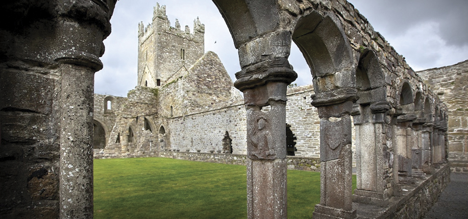 Jerpoint Abbey, Co. Kilkenny. The chief delight of the Abbey is the sculptured cloister arcade with unique carvings. (Photos courtesy Tourism Ireland)