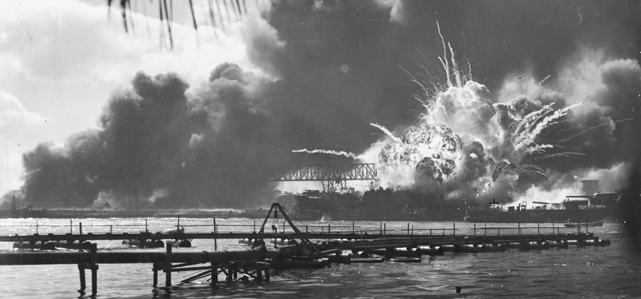 One of the most iconic images from the Japanese attack on Pearl Harbor shows the explosion of the U.S.S. Shaw, a destroyer named for Captain John Shaw, a decorated early U.S. Naval officer who was born in Laois. Full image below.