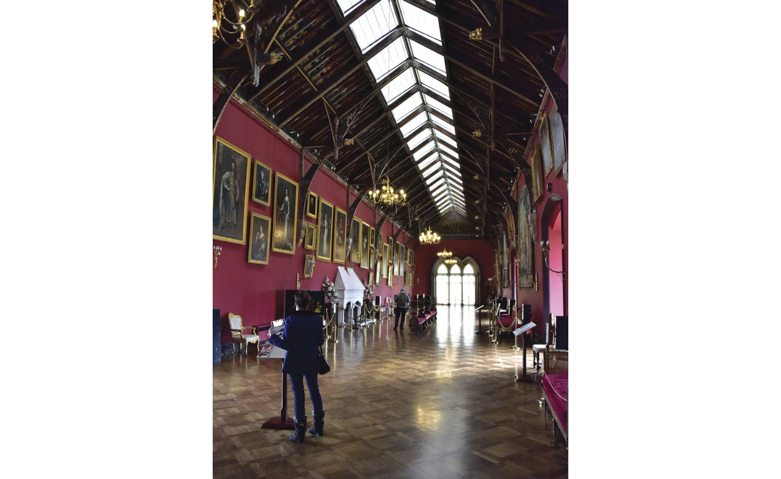The portrait hall at Kilkenny Castle, some of which dates to the 16th century.