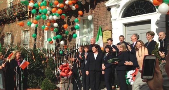 Church of Scientology opens on Merrion Square in Dublin. (Photo: Irish Times)