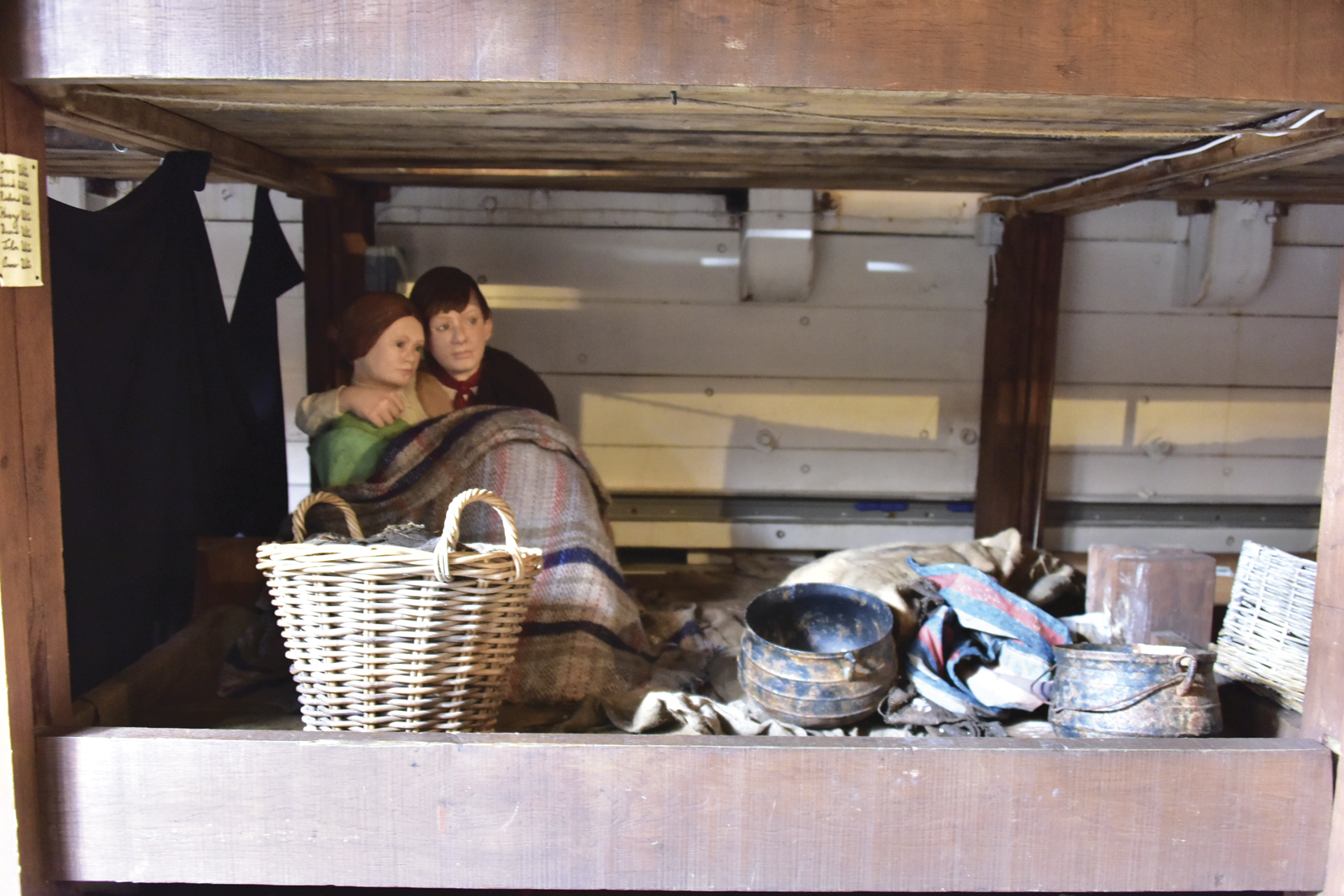 "A typical ""family"" bunk on the Dunbrody, a replica of a Famine-era sailing ship that bought thousands to the New World."