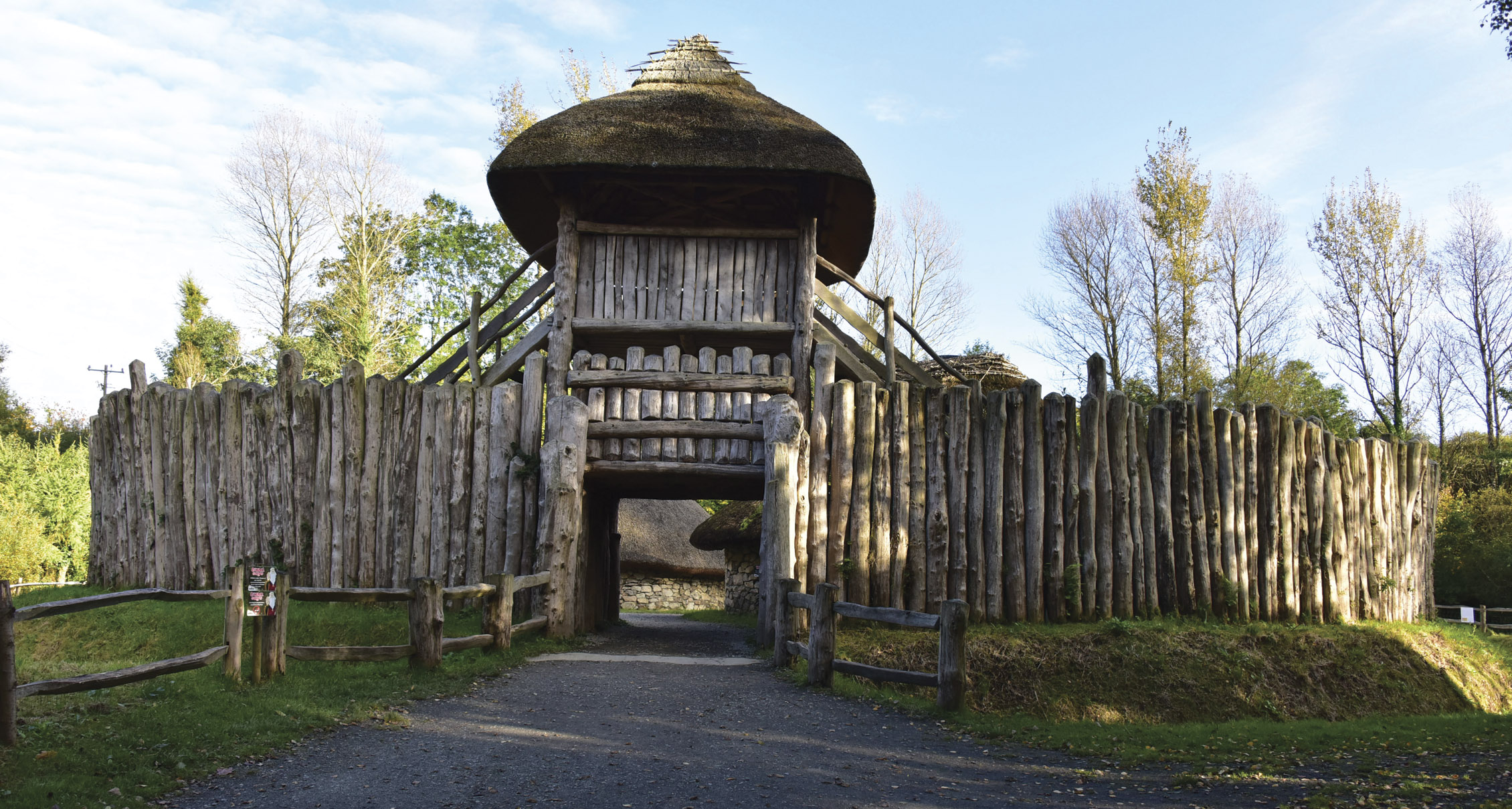 A replica of a 1,500-year-old Irish ringfort, where you can stay overnight and live as your long-ago ancestors did, situated in Wexford's Irish National Heritage Park.