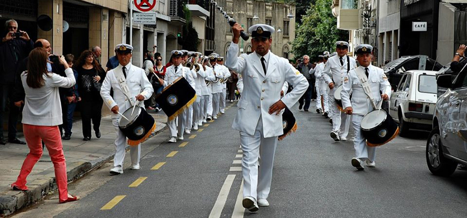 The Argentine Navy Band present for the first time during the program for Buenos Aires Celebrates Ireland. (Photo courtesy The Southern Cross)