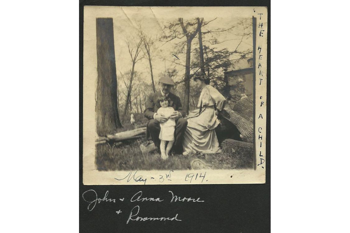 John and Anna Moore with Rosamond, May 3, 1914.