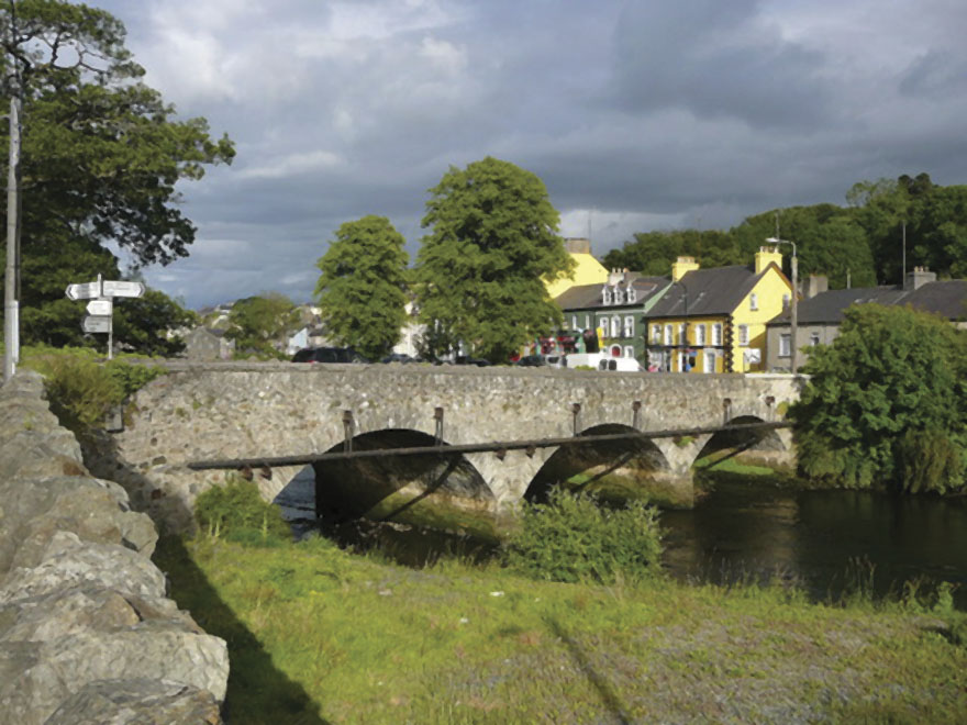 The picturesque town of Ramelton, County Donegal, where William Campbell grew up. The town had a homecoming reception for Dr. Campbell last September.