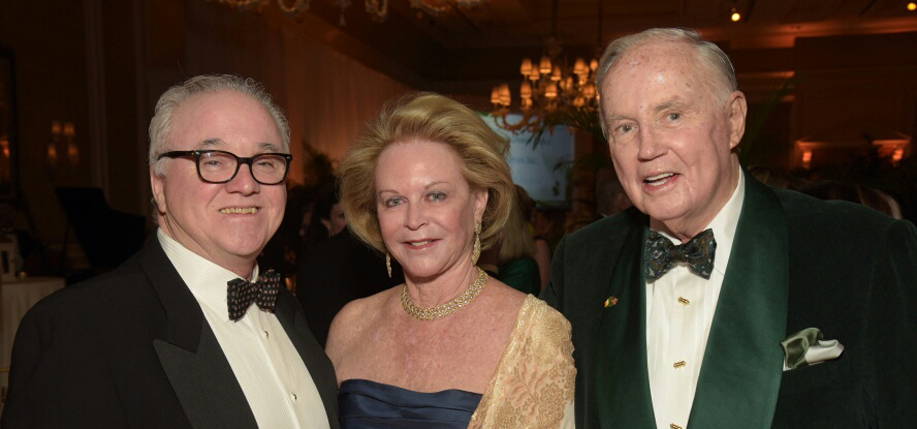 Turlough McConnell with Brian and Eileen Burns at the American Ireland Fund Gala in Palm Beach, FL in February 2017. (Photo: James Higgins)