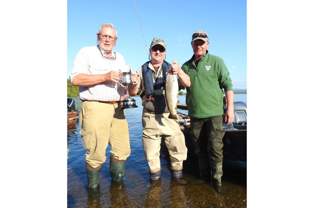 """This fine trout was a worthy winner of the Jimmy """"Crock"""" Minogue Memorial Flyfishing Competition. Held annually on the first Sunday in May, it is a great social occasion as anglers meet and swap stories of the one that got away."""