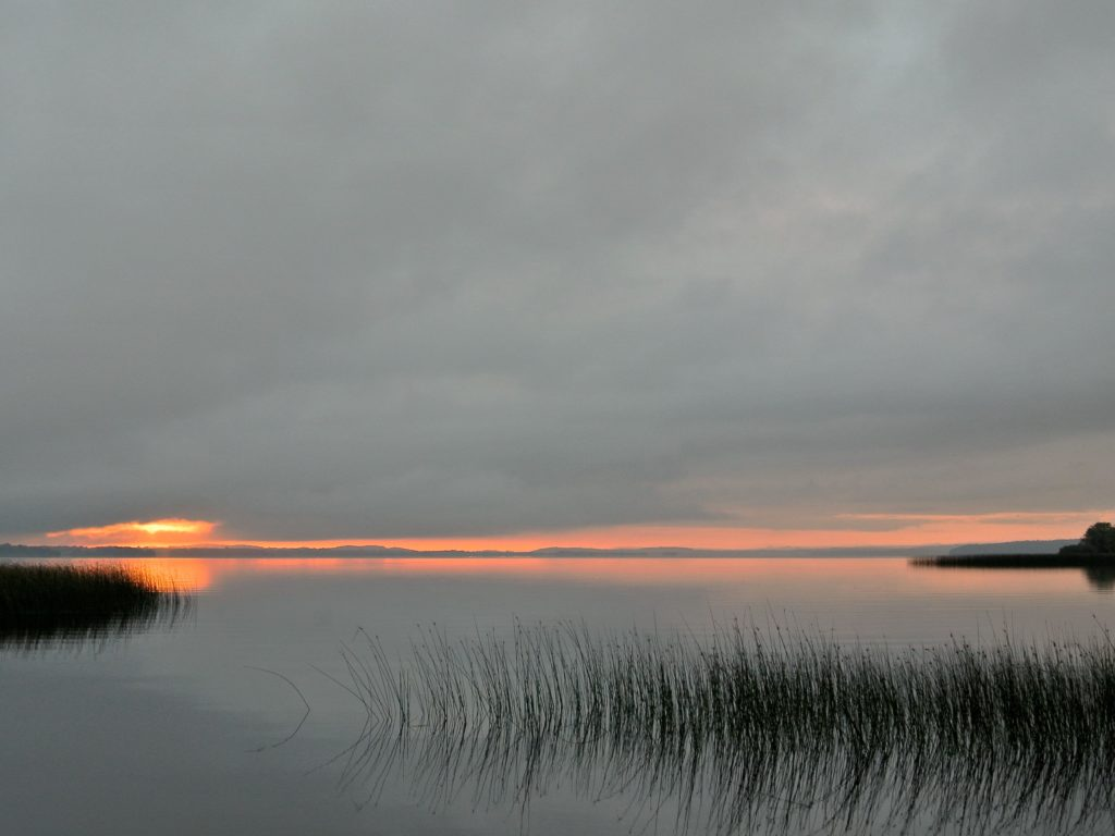 Dawn on Lough Derg, the jewel of the Shannon. Worth getting up early for.