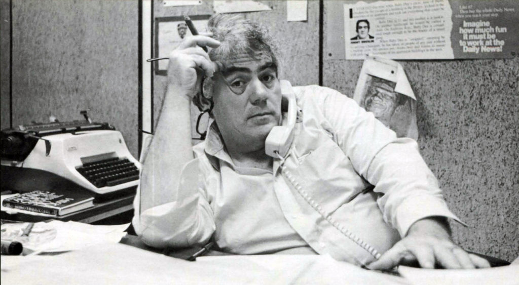 Jimmy Breslin photographed for Irish America in 1986.